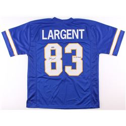 "Steve Largent Signed Tulsa Golden Hurricanes Jersey Inscribed ""'75 All-American"" (Radtke COA)"