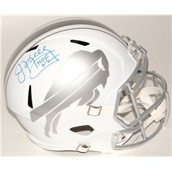 "Jim Kelly Signed Bills Full-Size Speed ICE Helmet Inscribed ""HOF 02"" (Radtke COA)"