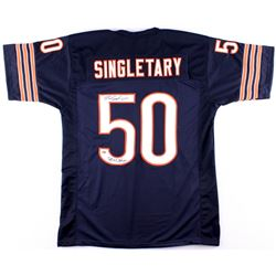 "Mike Singletary Signed Bears Jersey Inscribed ""SB XX Champs"" (Schwartz COA)"