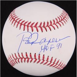 "Rod Carew Signed OML Baseball Inscribed ""HOF 91"" (JSA Hologram)"