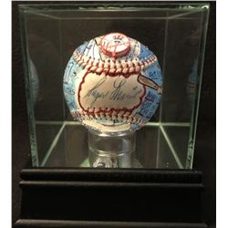 Roger Maris Signed Hand-Painted OAL Baseball by Charles Fazzino Limited Edition #1/1 With High Quali