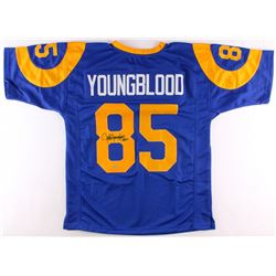 "Jack Youngblood Signed Rams Throwback Jersey Inscribed ""HOF 01"" (Schwartz COA)"