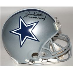 "Tony Dorsett Signed Cowboys Full-Size Authentic On-Field Helmet Inscribed ""SB XII Champs"" (Radtke CO"