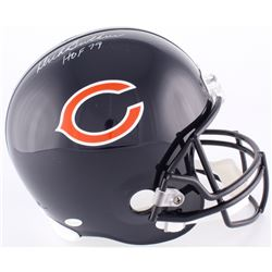 "Dick Butkus Signed Bears Full-Size Helmet Inscribed ""HOF 79"" (JSA COA)"