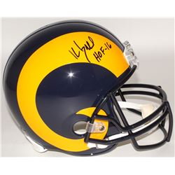 "Kevin Greene Signed Rams Full-Size Helmet Inscribed ""HOF-16"" (Radtke COA)"