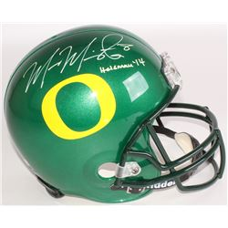 "Marcus Mariota Signed Oregon Ducks Full-Size Helmet Inscribed ""Heisman '14"" (Mariota Hologram  Radtk"