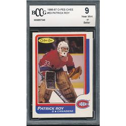 1986-87 O-Pee-Chee #53 Patrick Roy RC (BCCG 9)