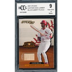 2001 Studio Leather and Lumber #LL23 Albert Pujols (BCCG 9)