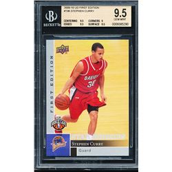 2009-10 Upper Deck First Edition #196 Stephen Curry RC (BGS 9.5)