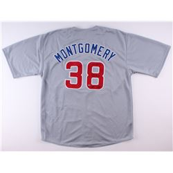 "Mike Montgomery Signed Cubs Jersey Inscribed ""2016 WS Last Pitch""  ""Game 7 Save"" (Schwartz COA)"