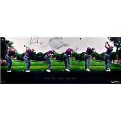 "Tiger Woods Signed ""Art of the Swing"" 15x36 Limited Edition Panoramic Photo (UDA COA)"