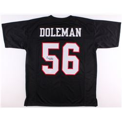 "Chris Doleman Signed Falcons Jersey Inscribed ""HOF 12"" (JSA COA)"
