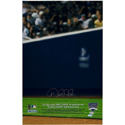 "Derek Jeter Signed Yankees ""Air Jeter"" 14x22 Photo Display with Game-Used Yankee Stadium Dirt Capsul"