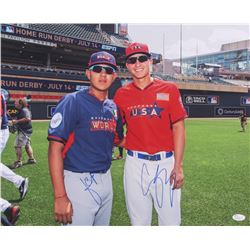 Corey Seager  Julio Urias Signed 16x20 Photo (JSA Hologram)