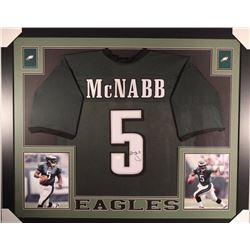 Donovan McNabb Signed Eagles 35x43 Custom Framed Jersey (JSA COA)