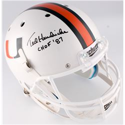 "Ted Hendricks Signed Miami Hurricanes Full-Size Helmet Inscribed ""CHOF '87"" (JSA COA)"