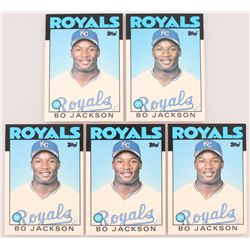 Lot of (5) 1986 Topps Traded #50T Bo Jackson XRC