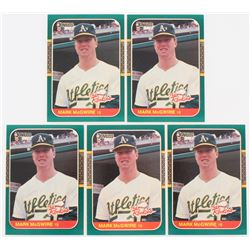 Lot of (5) 1987 Donruss Rookies #1 Mark McGwire