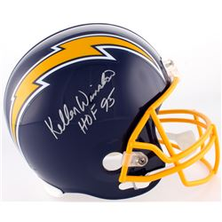 "Kellen Winslow Signed Chargers Full-Size Helmet Inscribed ""HOF 95"" (JSA Hologram)"