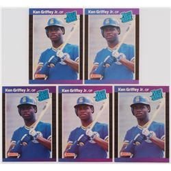 Lot of (5) 1989 Donruss #33 Ken Griffey Jr. RR RC