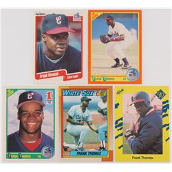 Lot of (5) Frank Thomas Cards with 1990 Classic Yellow #T93, 1990 Topps #414B RC, 1990 Score #663 RC