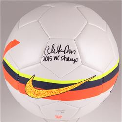 "Christen Press Signed Nike Soccer Ball inscribed ""2015 WC Champs"" (JSA COA)"