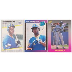 Lot of (3) Ken Griffey Jr. Cards with 1989 Donruss #33 RR RC, 1989 Classic Travel Purple #193, 1989