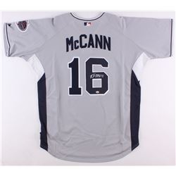 Brian McCann Signed National League All-Star Authentic Majestic Jersey (Radtke COA)