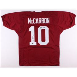 "AJ McCarron Signed Alabama Crimson Tide Jersey Inscribed ""Roll Tide!"" (Radtke COA)"