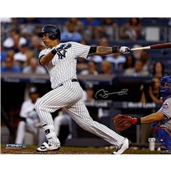 "Gary Sanchez Signed Yankees ""Swinging"" 16x20 Photo (Steiner COA)"