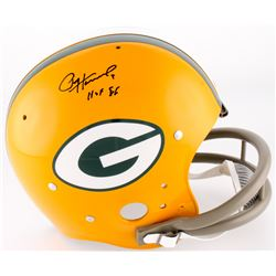 "Paul Hornung Signed Packers Full-Size TK Suspension Helmet Inscribed ""HOF 86"" (Radtke COA)"