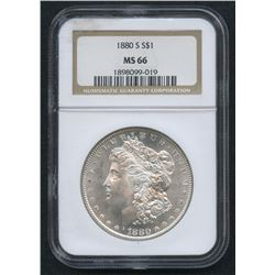 1880-S Morgan Silver Dollar (NGC MS 66)
