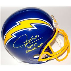 "LaDainian Tomlinson Signed Chargers Full-Size Throwback Helmet Inscribed ""HOF 17""  ""2006 NFL MVP"" (R"