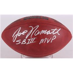 "Joe Namath Signed NFL ""The Duke"" ""Super Bowl III"" Football Inscribed ""SB III MVP"" (Namath Hologram)"