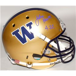 "John Ross Signed Washington Huskies Full-Size Helmet Inscribed ""4.22"" (Ross Hologram  Radtke COA)"
