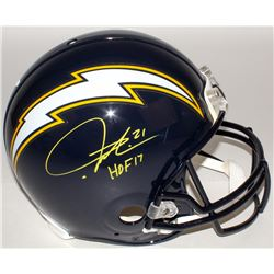 "LaDainian Tomlinson Signed Chargers Full-Size Authentic On-Field Helmet Inscribed ""HOF 17"" (Tomlinso"