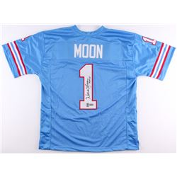 "Warren Moon Signed Oilers Jersey Inscribed ""HOF 06"" (Radtke COA  Moon Hologram)"
