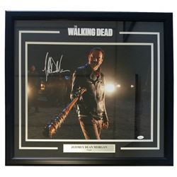 "Jeffrey Dean Morgan Signed ""The Walking Dead"" 25"" x 27"" Custom Framed Photo Display (JSA COA)"