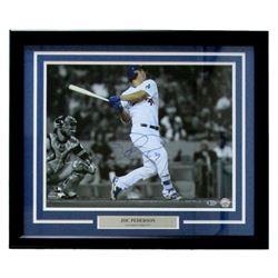 "Joc Pederson Signed Dodgers 22"" x 27"" Custom Framed Photo Display (Beckett COA)"
