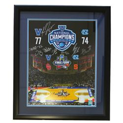 2016 Villanova Wildcats NCAA Championship 22x27 Custom Framed Photo Display Signed by (8) with Kris