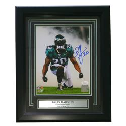 Brian Dawkins Signed Eagles 11x14 Custom Framed Photo Display (JSA COA)