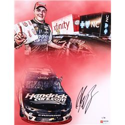 "Alex Bowman Signed NASCAR ""2017 Charlotte Win"" Limited Edition 11x14 Photo #/88 (PA COA)"
