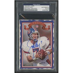 John Elway Signed 1995 Broncos Collectors Card (PSA Encapsulated)