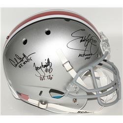 Eddie George, Archie Griffin  Troy Smith Signed Ohio State Buckeyes Full-Size Helmet with (3) Heisma
