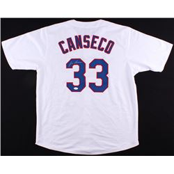 Jose Canseco Signed Rangers Jersey (JSA COA)