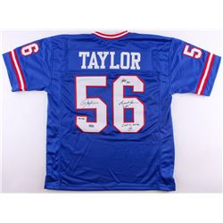 "Lawrence Taylor Signed Giants LE Jersey Inscribed ""HOF 99"", ""Giant For Life""  ""Last To Wear 56"" (Rad"