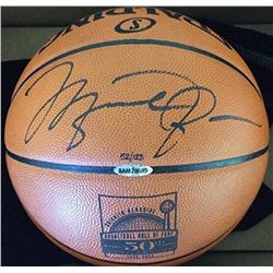 Michael Jordan Signed Limited Edition Custom Engraved NBA Hall of Fame 50th Anniversary Basketball (