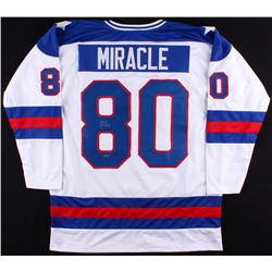 "Mike Eruzione Signed Team USA ""Miracle on Ice"" Jersey (Leaf COA)"