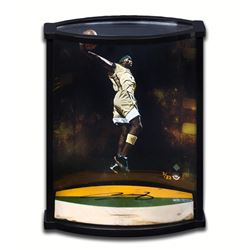 "LeBron James Signed ""Airborne"" Limited Edition Game-Used Floor Piece Curve Display (UDA COA)"