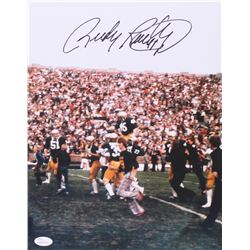 Rudy Ruettiger Signed Notre Dame Fighting Irish 11x14 Photo (JSA Hologram)